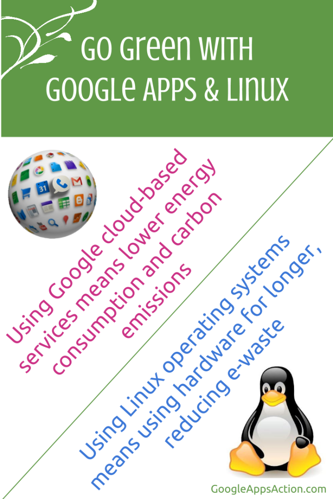 Go green with Google Apps for Education and Linux operating system.