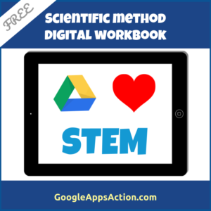 FREE Google Drive scientific method digital workbook for STEM