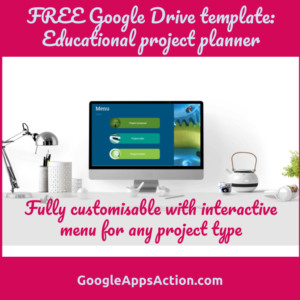 FREE project planning template using Google Slides