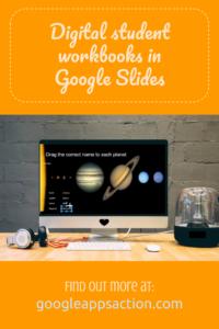 Create digital student workbooks with Google Slides